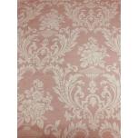 Puuvillane kangas 2,4m roosal põhjal ornamendid.