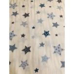 Flanell 2,4m sinised tähed.