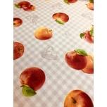 Prinditud dekoratiivkangas, õunad