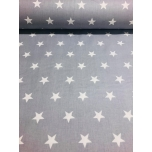 Puuvillane kangas 2,4m hall  suur täht.