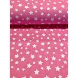 Puuvillane voodipesu kangas,  roosa täht. 2.4m