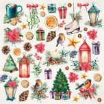 Disainpaber 30x30 Christmas Vibes Sheet 07
