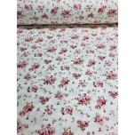 Puuvillane kangas 2,4m loodusvalgel väike lillekimp.