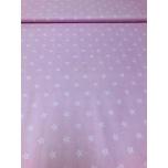Puuvillane kangas roosa põhi,väike täht. 1,5m