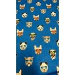 Trikotaaž, sinisel koerad.