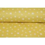 Puuvillane voodipesu kangas, kollane täht. 2.4m