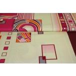 Puuvillane kangas, ornament punane. 2.2m