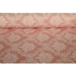 Puuvillane kangas, roosa ornament  2.4m