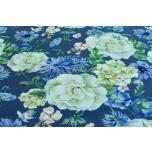 Trikotaaž Sinine hortensia