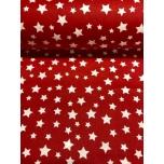 Puuvillane voodipesu kangas, punane täht 2,4m