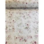 Puuvillane kangas 2,4m valgel põhjal lilleline